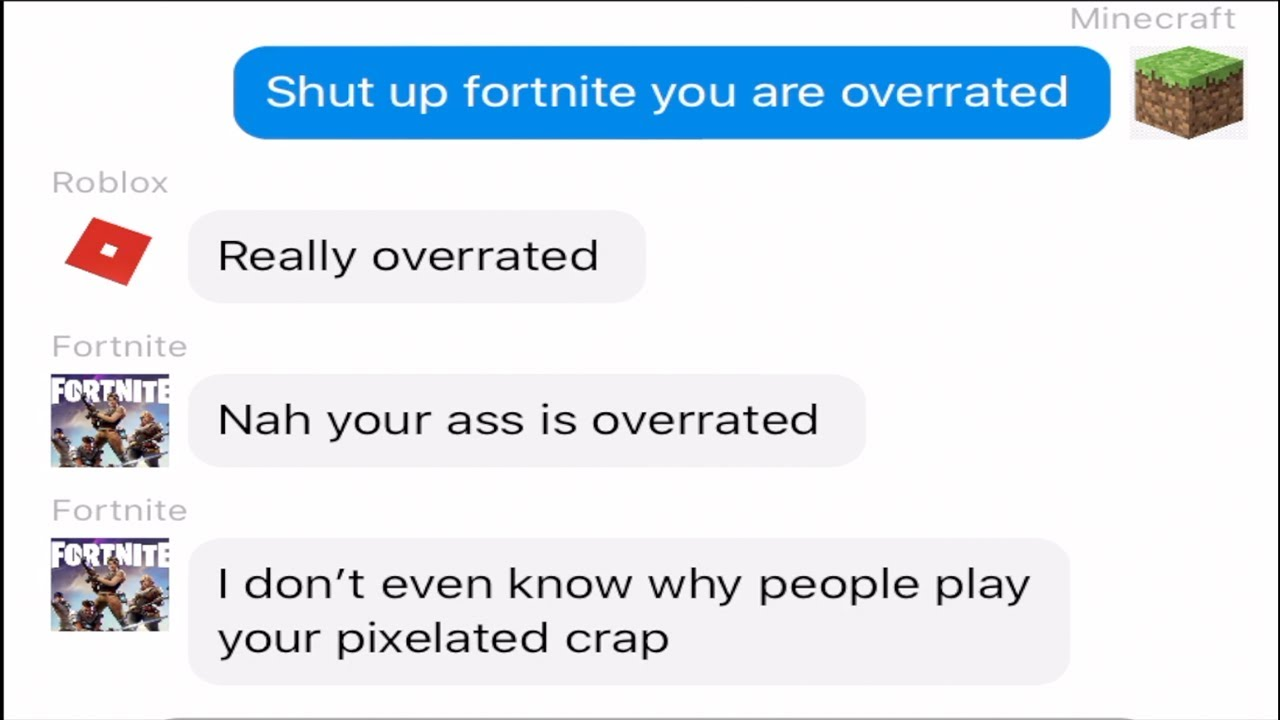 If Video Games had a Group Chat (Fortnite, Apex Legends, Minecraft and more)