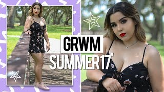 GET READY WITH ME: SUMMER 2017 HAIR, MAKEUP + OUTFIT!