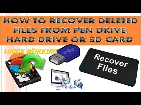 HOW TO RECOVER DELETED FILES......% WORKING.....