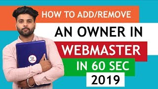 How To Add/Remove Owner In Webmaster | How To Add/Remove Owner Google Search Console