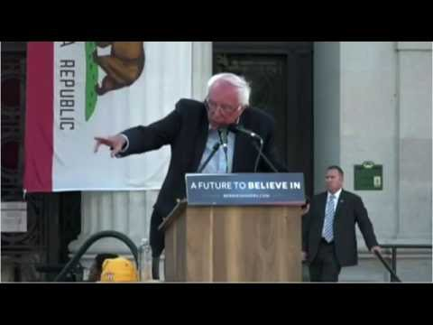 5 30 2016 Secret Service in action, Bernie rally Oakland CA.