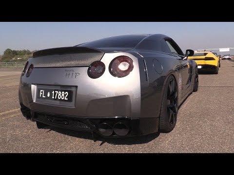 980HP Modified Nissan GT-R w/ Fi Exhaust – Accelerations, REVS & DRAG RACING!