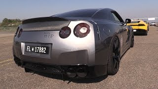 980HP Modified Nissan GT-R w/ Fi Exhaust - Accelerations, REVS & DRAG RACING!