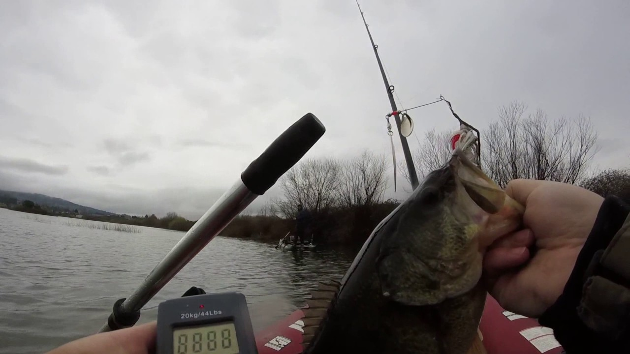 Oregon bass fishing in the rain youtube for Bass fishing oregon