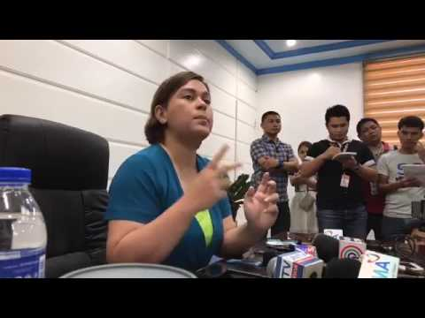 Press conference of Davao City Mayor Sara Duterte About Martial Law