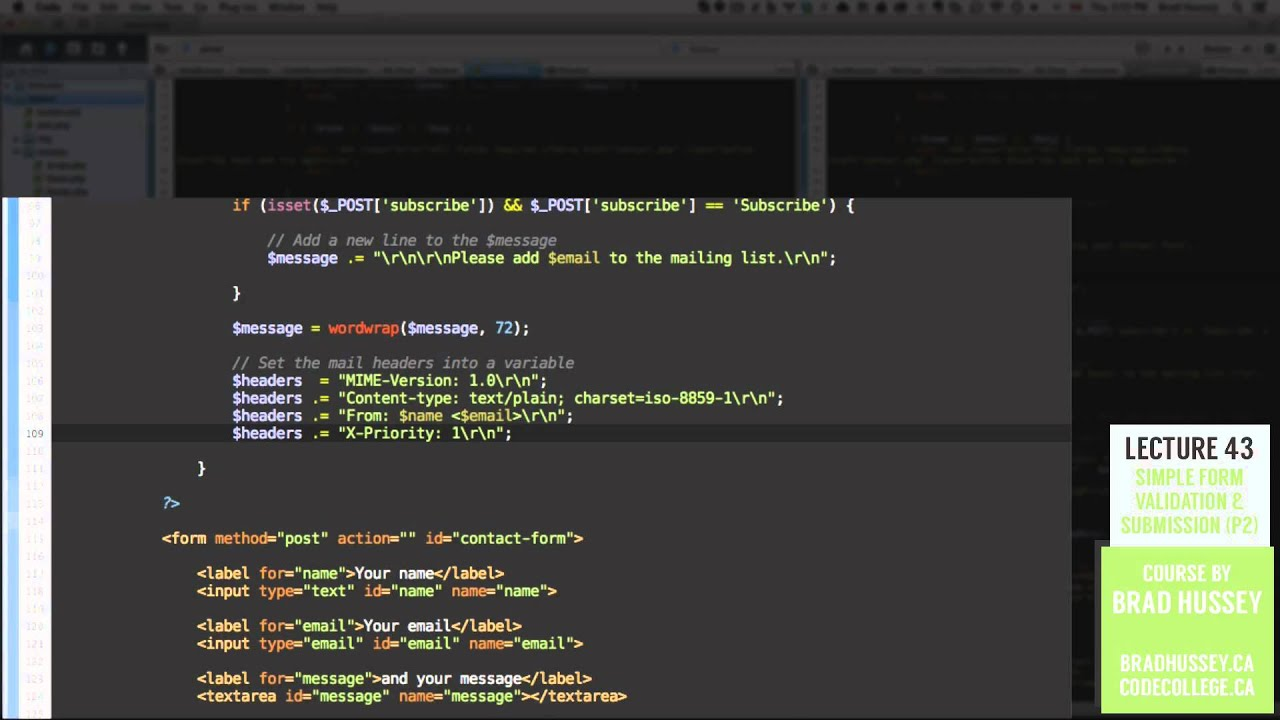 Form Submission [#43] Code Dynamic Websites with PHP