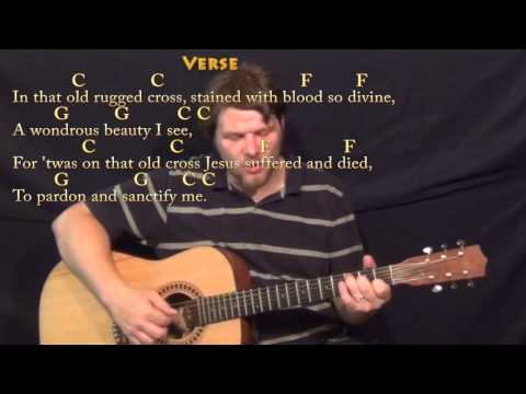 The Old Rugged Cross - Fingerstyle Guitar Cover Lesson in C with Chords/Lyrics