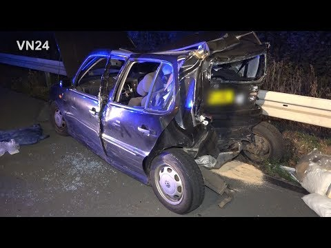 02.09.2019 - VN24 - Rear-end collision on A1 ends fatally - Transporter races in VW Polo