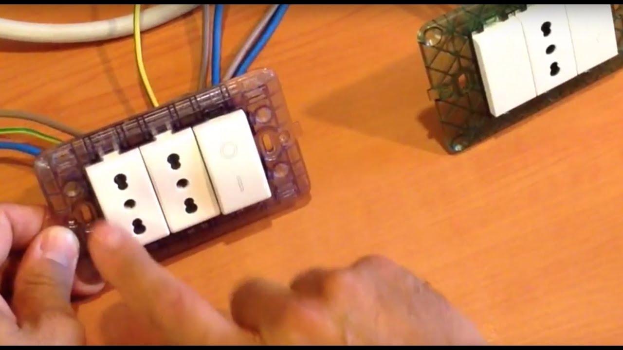 Collegare prese combinate a un interruttore bipolare for Scatole elettriche esterne