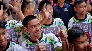 Thai soccer team speaks about cave rescue