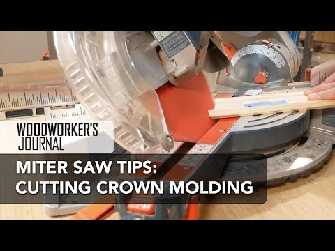How to cut crown molding with a miter saw inside corner