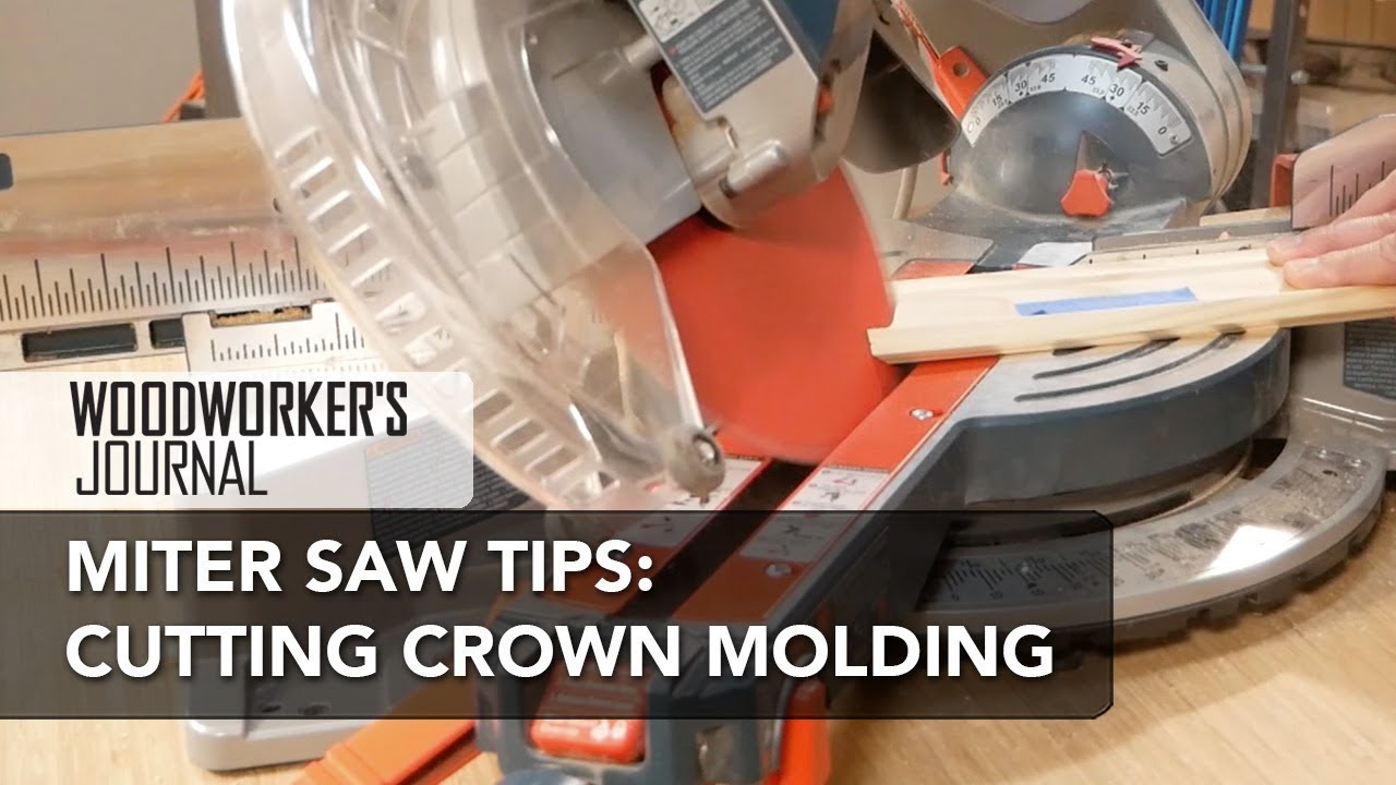 Using A Miter Saw To Cut Crown Molding You