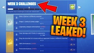 *LEAKED* FORTNITE WEEK 3 SEASON 7 CHALLENGES GUIDE!