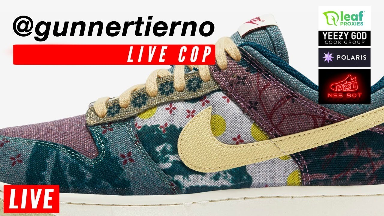 🔴  LIVE COP: Nike SB Dunk Low Community Garden Lemon Wash & Supreme Week 3 Release Botting & Manual