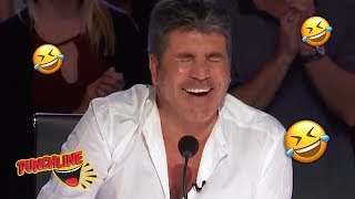 SIMON COWELL CRACKS UP!! Stand Up Comedian Gets Everyone Lau...