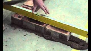 Basic Bricklaying Skills How To Build A Brick Corner.wmv