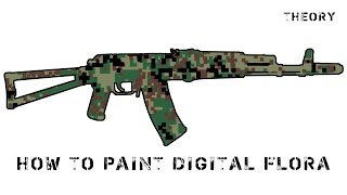 How to paint Digital Flora  / покраска в камуфляж Русская цифра (ЕМР)