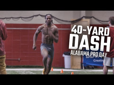 The Top 40-yard Dash Times For Each Player At Alabama Pro Day 2018