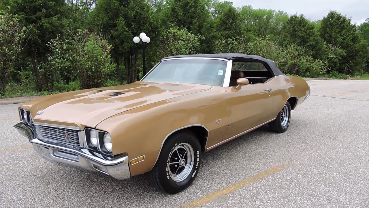 1972 buick skylark gs convertible gold for sale at www coyoteclassics com youtube. Black Bedroom Furniture Sets. Home Design Ideas