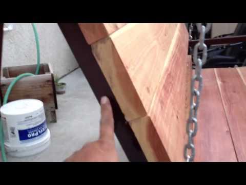 Making a metal swing set part 3