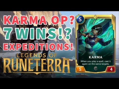 7 WINS?! UNLOCKING THE POWER OF KARMA! - Legends of Runeterra