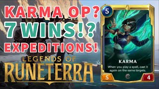 7 WINS?! UNLOCKING THE POWER OF KARMA! - Legends of Runeterra