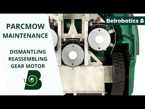 Belrobotics- Parcmow Connected Line Maintenance: Dismantling / Reassembling The Gear Motor