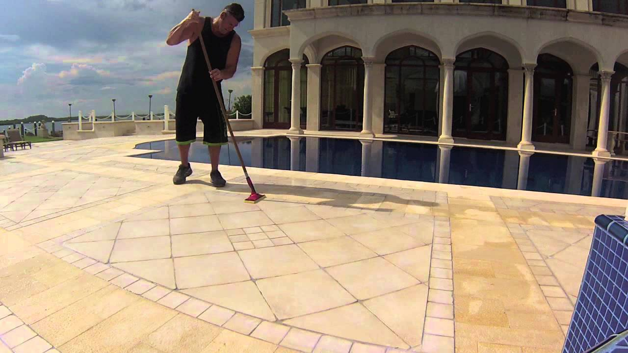 Pool Deck Ceramic Tile Non Slip Youtube