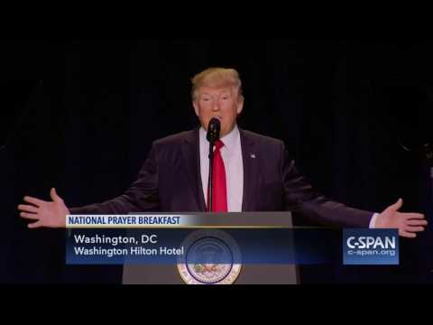 President Trump complete remarks at National Prayer Breakfast (C-SPAN)