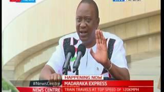 """""""Hii reli sio ya serikali, hii reli imejengwa na pesa ya Wakenya arobaini:"""" President Uhuru Kenyatta"""