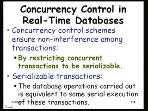 Mod-01 Lec-40 Real - Time Databases