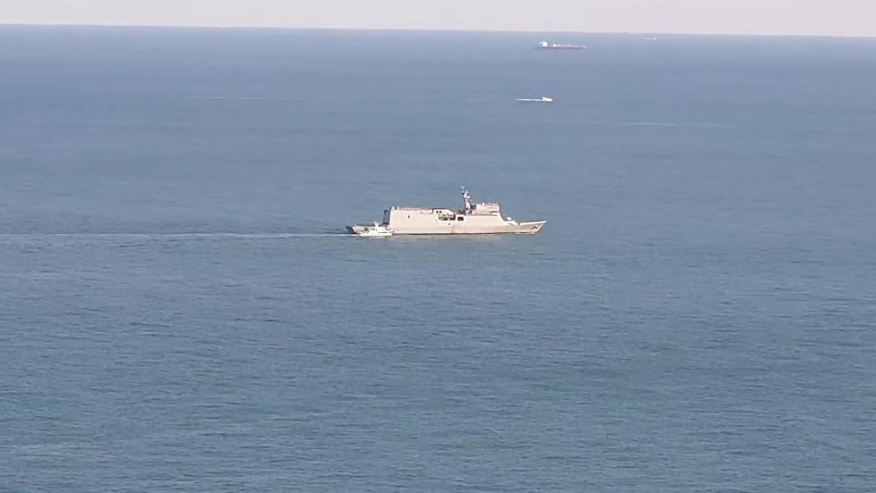 한국 해군 한산도함 시험항해
