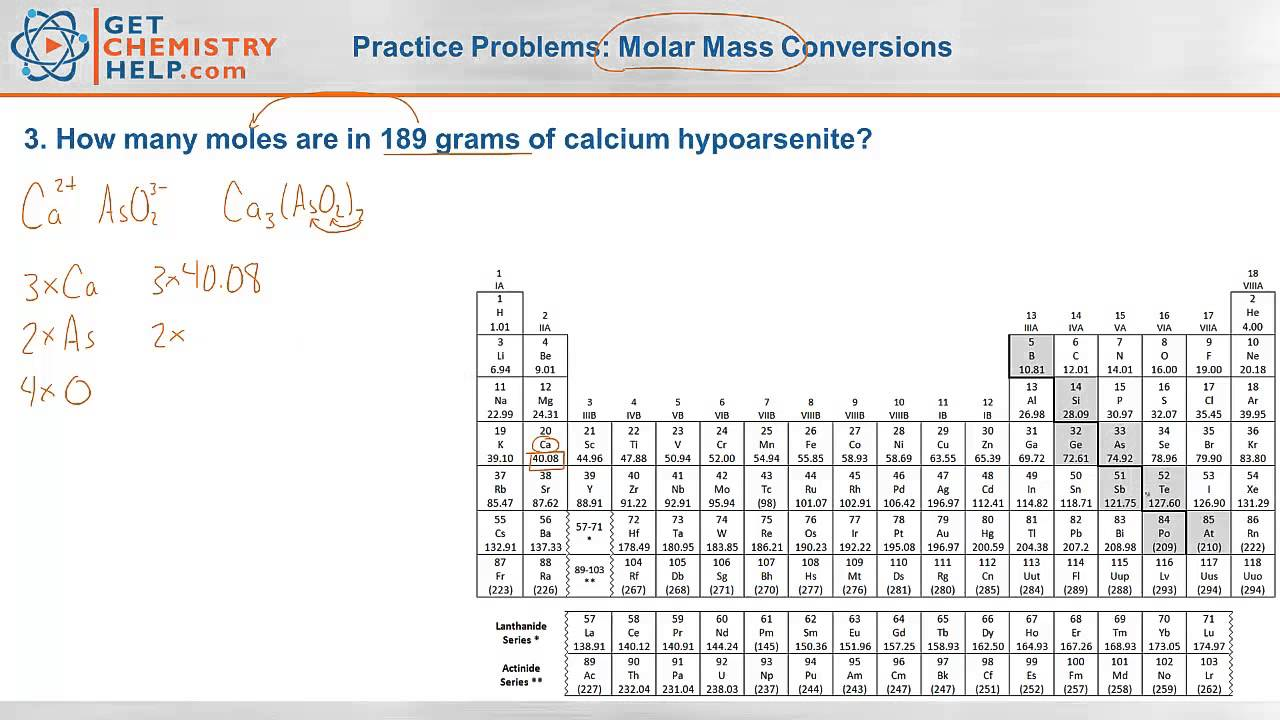 Chemistry Practice Problems: Molar Mass Conversions - YouTube