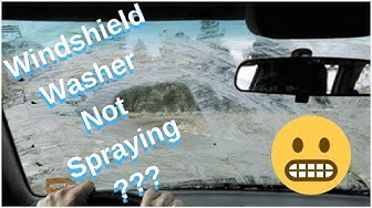 Windshield Washer Fluid Not Coming Out? System Diagnosis