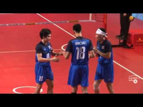 การแข่งขันเซปักตะกร้อซีเกมส์ ทีมชาติไทย เอาชนะ อินโดนีเซีย 3-0 ทีม