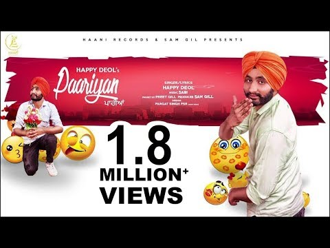 Paariyan ● Happy Deol ● Official HD Video ● NEW PUNJABI SONG ● HAAਣੀ Records
