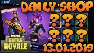 Fortnite Neuer Gegenstand Shop 13.01.2019 Fortnite ITEM SHOP Daily Shop January 13th New Skins