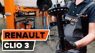 How to replace Shock absorbers RENAULT CLIO III (BR0/1, CR0/1) Tutorial