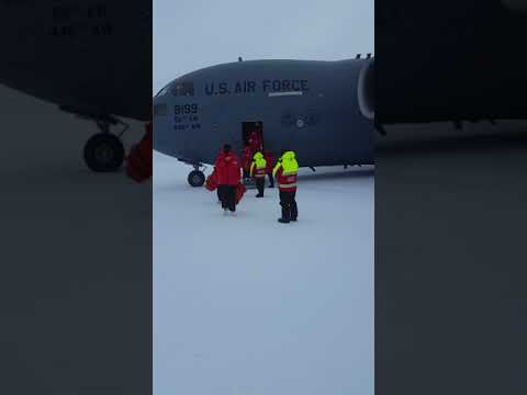 Stepping off the Plane in McMurdo Sound