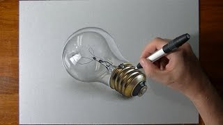 How to draw 3D realistic things with mixed media on gray paper. 3D ...