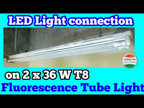 LED Tube Light connection Diagram on 2 x 36 W T8