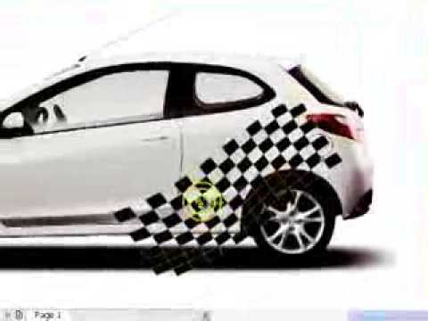 35..Smear tool in CorelDRAW ( CAR sticker design) - YouTube