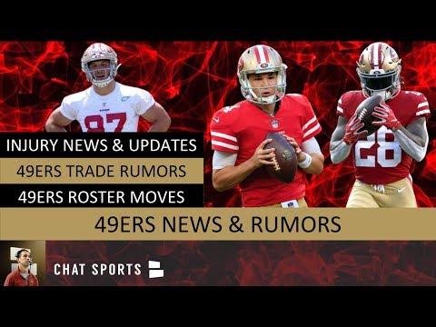 san-francisco-49ers:-injury-news-on-jerick-mckinnon-&-nick-bosa,-qb-trade-rumors-&-malcolm-smith-cut