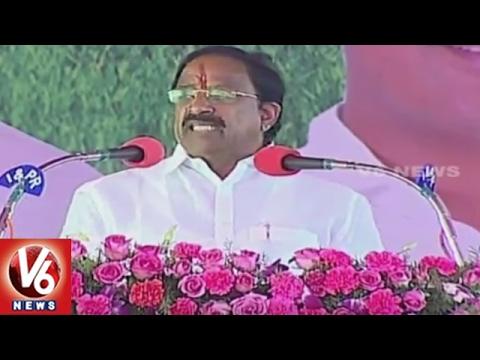Thummala Nageswara Rao Speech | Inauguration Of Bhakta Ramadasu Project | Khammam | V6 News