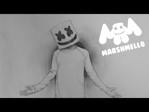 Drawing Dj Marshmello Pencil Drawing Youtube