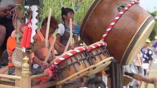 20130728‐92船形の祭り子供の早バカ囃子にのり出発する堂の下の山車