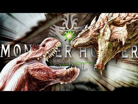EPIC THREE MONSTER BATTLE  Monster Hunter: World Beta  PS4 Gameplay FIRST LOOK DiablosRathalos