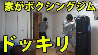 自分の家が突然ボクシングジムになってたらどうする?【ドッキリ】 thumbnail