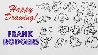 Zeichnung 16 Comic-Hund Gesichter - Schnell! Glücklich Zeichnung! mit Frank Rodgers