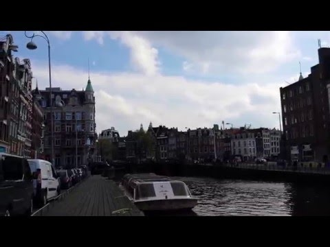 amsterdam tram & canal  netherland